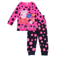 Retail 2015 new children peppa pig pajama set kids long sleeve cartoon clothing set toddler baby girl sleepwear / homewear