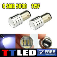 Super Bright!! 20X S25 P21W 7014 6SMD 7014 6 Led 1156 BA15S Auto Car Turn Signal Lamp Reverse Light 12V 24V White #TF27