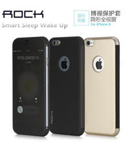 Original Rock Dr.V case for iphone 6 4.7 TPU+PC flip case protective case full windows ultra-thin shell Smart  free shipping