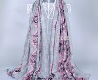 High Grade Twill cotton voile scarf Women long silk scarf Lady Beach Shawl Turban towel Wrap Scarf 180*90cm 4color free shipping