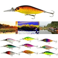 2015 New arrival 10pcs/Lot Rock Deep Diver Crank Baits Rattling Fishing Lures Tackle Hooks for good reputation