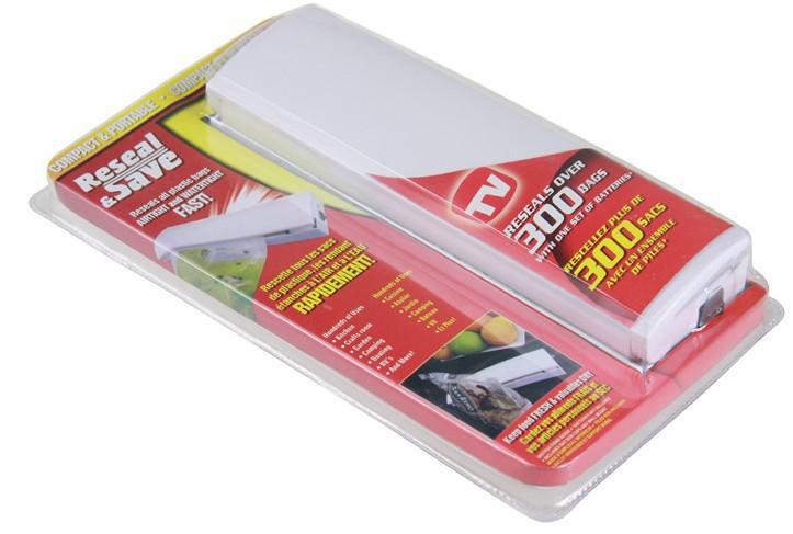 Hot 3PCS/LOT Bag Reseal Save Portable Plastic Sealer Airtight Plastic Bag Preserve Food As Seen On TV - WFA0048(China (Mainland))
