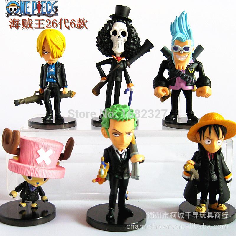 BFY Free shipping 100% brand new Japana anime 6pcs one piece pvc figure toys tall 5.5-9cm set.(China (Mainland))