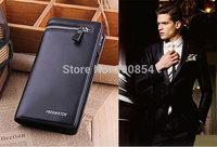 Free shipping fashion design genuine leather men's wallet, business style brand men's long wallet zipper wallet clutch
