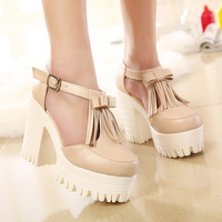 2015 new women sexy high-heeled sandals Simple wild waterproof shoes fashion women shoes