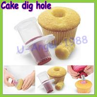 Wholesale 1pcs Cake Digging Hole Device Cake Decoration Mold Filler Model Kitchen Bakeware Baking Tools Random Color Dropship