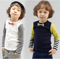 Free Shipping NEW 1PC/Lot Spring & Autumn Children Boys Girl  Long Sleeved T- Shirt  Kids Cloth  Cotton Fashion tops tees Gift