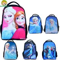 Avivababy 2015 Hot Sale Small Cartoon Backpack Girls SchoolBags Cute Girl Princess Schoolbag brand new 3D Backpack Kids Mochilas