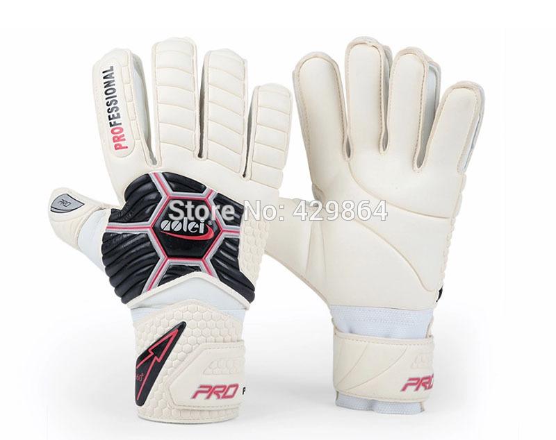 free shipping adult's goal keeper gloves white black color No 8 ja388 full emulsion(China (Mainland))