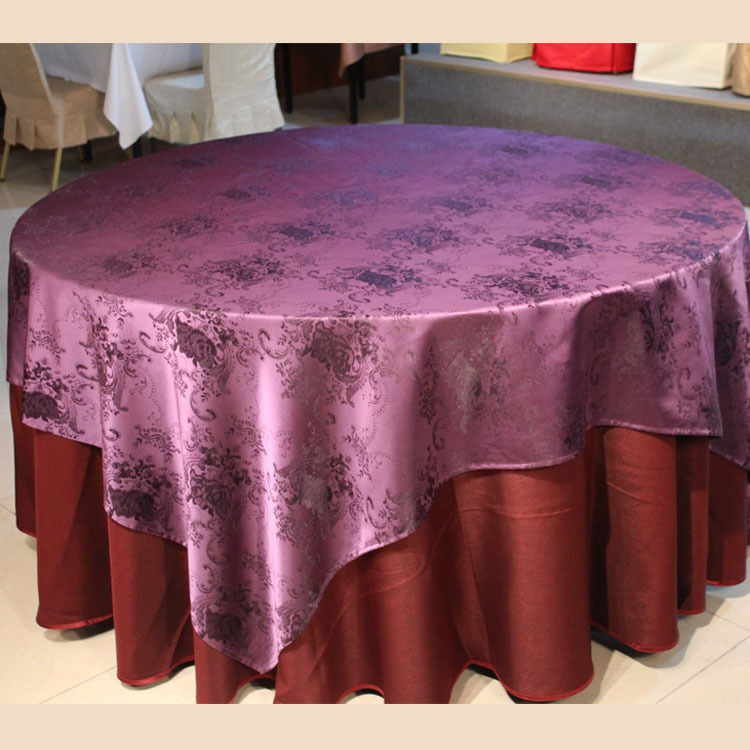 European hotel cloth, waterproof jacquard cloth, hotel tablecloths custom wholesale(China (Mainland))