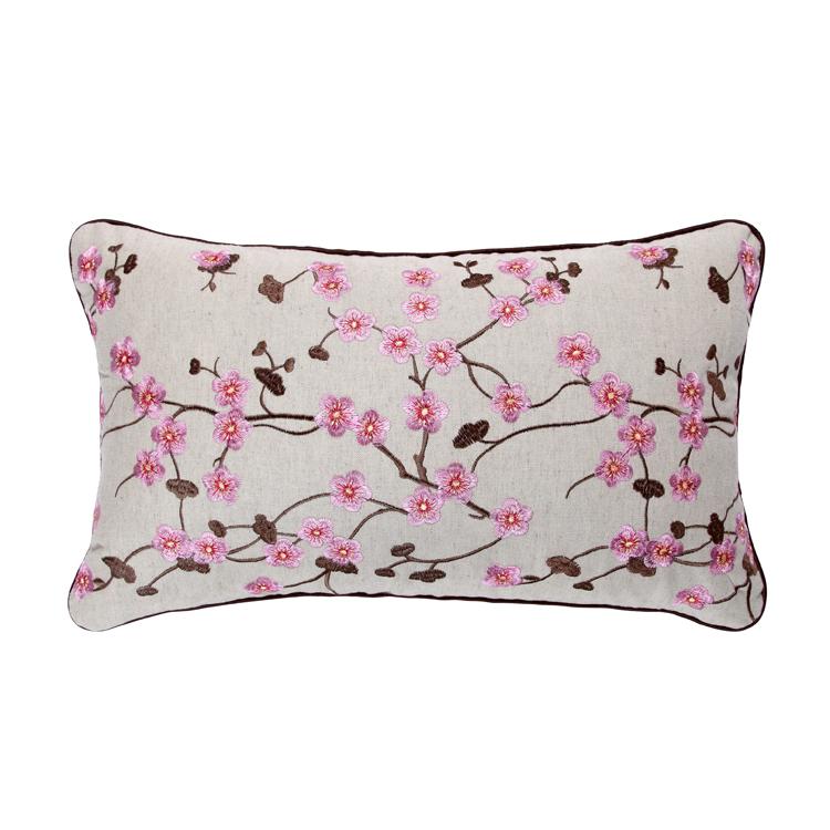 Embroidery linen cotton plain cushion cover flower pillows decorate ikea home decor ikea capa de almofada car covers m101578(China (Mainland))