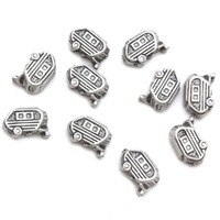 Silver Camper van Floating Charms Floating Locket charm Fits Living lockets 20pcs/lot Free shipping