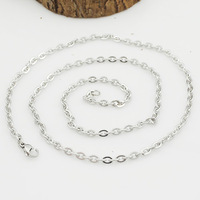54.5cm 3mm Trendy chains necklaces S.steel for man boys 2015 New Jewelry Men WN306