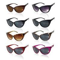 2015 New Fashion Outdoor Vintage Retro Sexy Women Punk Shades Black Fashion Cat Eyes Sunglasses