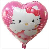Free Shipping~ 10pcs/lot 18 inch Wholesale Helium balloons aluminum foil hearts balloon / KT balloon