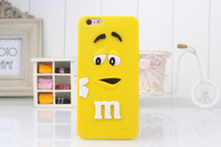 For iphone 6 rubber m beans cartoon case cute phone cover soft protective case for apple iPhone 6 plus free shipping