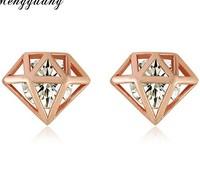 LR174 CZ women earrings Flash diamond earrings diamond temperament earrings