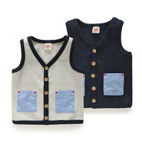 Free shipping 2015 new spring and autumn boys & girls waistcoats coats children's clothing baby & kids vests wt-2669