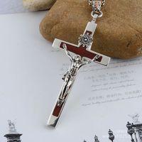 925 Sterling Silver Cross Silver ebony cross Thailand import domineering men Pendant xh042598w