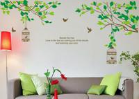 New!! Lovers Tree&Birdcage Birds Wall Stickers Sticker Decor Decals Art 90*60cm