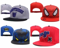 Cartoon Snapback hats Spiderman Batman hip hop Sports mens womens chapeus toucas gorros gorras bones baseball caps