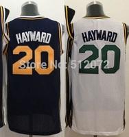 Utah #20 Gordon Hayward Men's Authentic Home White/Road Navy Basketball Jersey