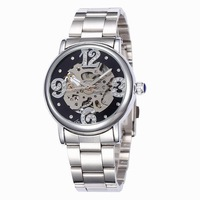 2015 Time-limited Direct Selling Glass Women Watch Shenhua Automatic Mechanical Watches Hollow Female Form Simple Belt Leisuree