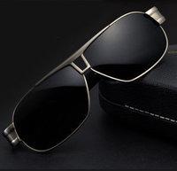 Sunglasses Men Brand Designer Polarized Driving Glasses 2015 New Gafas de sol Cycling Eyewear Stainless Steel Black Lens sg264