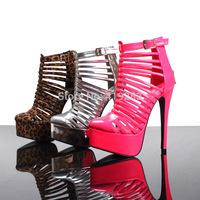 Fashion Ultra High Heels Gladiator Platform Sandals Cutout Dress Shoes For Women Size 34-41Drop Shipping