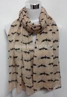 Free shipping 2015 Bat Print  Scarf
