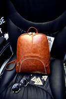 2015 fashion casual backpack preppy shool bag  women's handbag all-match oil skin rivet portable backpack