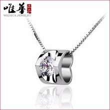 2015 new necklace big crystal big colorful necklaces silver rhinestone necklace for women lady gift party casual(China (Mainland))