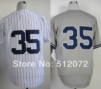 New York #35 Michael Pineda Men's Authentic Cool Base Home White/Road Grey Baseball Jersey