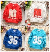 2015 spring autumn boy t shirt long sleeve baby t shirt for boy kids t shirts retail WL55