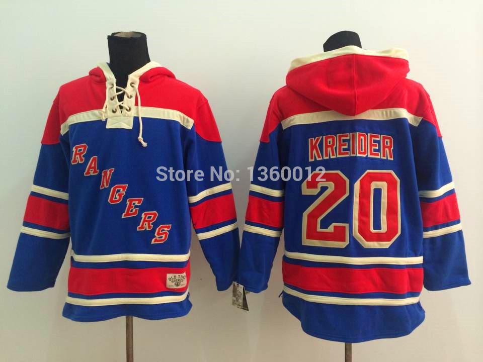 2015 Free Shipp. New York Rangers Cheap Ice Hockey Jersey Hoodie 20 Chris Kreider Hockey Hoodies/ Hooded Sweatshirt(China (Mainland))
