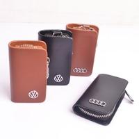 100% Genuine Leather Car Key Case , Fashion Car Brand Key Holder, Wholesale Cowhide Key Wallets , Best Gift no-4