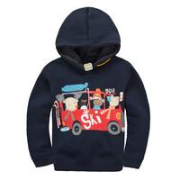 BT-26, 6pcs/lot, bus, Children boys hoodies outwear, long sleeve sweatshirts for 1-7Y, cotton fleece