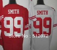 San Francisco #99 Aldon Smith Men's Authentic Elite Team Red/White Football Jersey