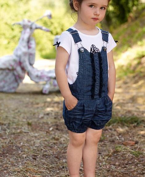 AliExpress.com Product - New summer set kids Girls New Girl denim suits ( tops+ Strap pants) 2pc sets Hot tracksuit kids