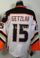 Anaheim #15 Ryan Getzlaf Men's Authentic Road White Hockey Jersey