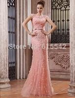 Luxury Mermaid Trumpet Prom Dresses scoop Cap Sleeve Beading Motifs Adorn Court Train Pageant Dresses Custom