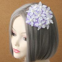 Princess lolita hat romantic light purple flower hair pin lady small hat headdress side clip lady's hat accessories FJ - 30