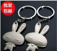 Min Order $15(mixed order) Lovely LOVE rabbit love couple Keychain  Keyring pair price 3180 al