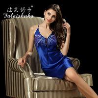 Summer silk pajamas Silk Lingerie sexy woman tracksuit 100% silk D3396