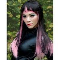 New Style Hot Fashion Japan Anime Cosplay Wig long straight mixed color party wig