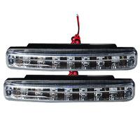 Super White 12V DC Car Fog Lights 8 LED Daytime Running lights drl light Bar Parking  Strobe Light  Head Lamp