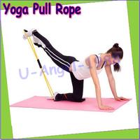 1pcs yoga Pilates Exerciser Sport Equipment String Chest Developer Rubber Entertainment Pull Rope Chest Strength Power Training