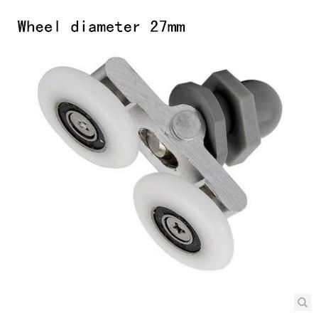 Wheel diameter27mm Glass shower door roller pulley High quality nylon(China (Mainland))