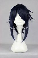 Short layered Famous Cartoon K-MUNAKATA REISI Dark Blue Anime Cosplay Wig made Kanekalon Hair brazilian no Lace Front Wigs