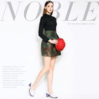 Mi15012223 fashion vintage fashion high waist jacquard patchwork slim one-piece dress